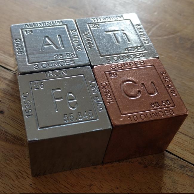 Lote de cubos pulidos de 31mm de titanio cobre hierro y - Hierro y aluminio ...